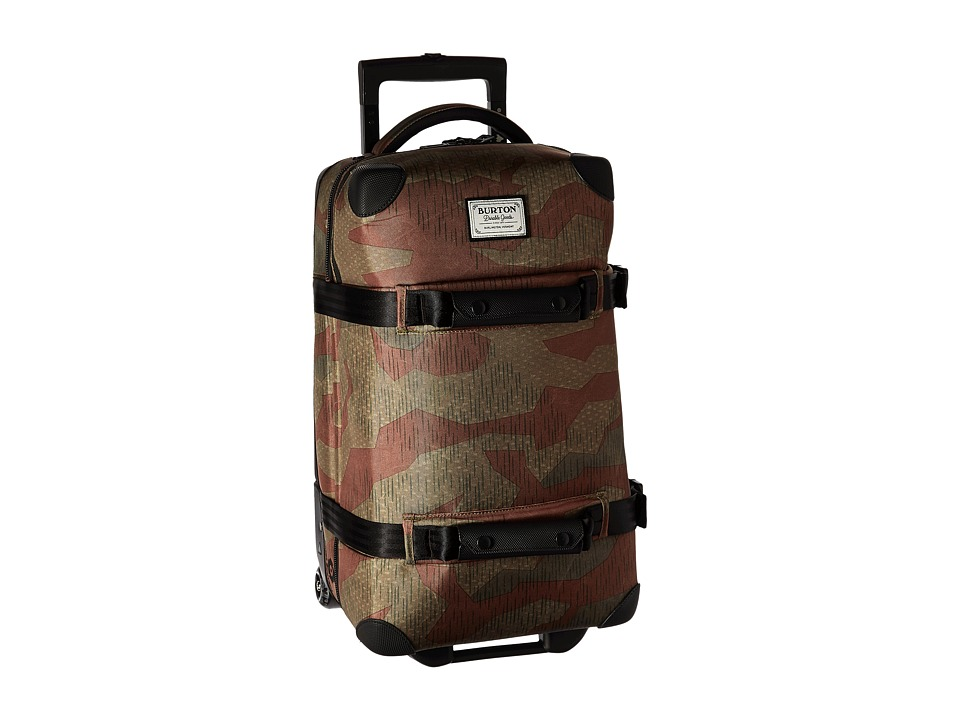 Burton - Wheelie Flight Deck Travel Luggage (Splinter Camo Print) Luggage