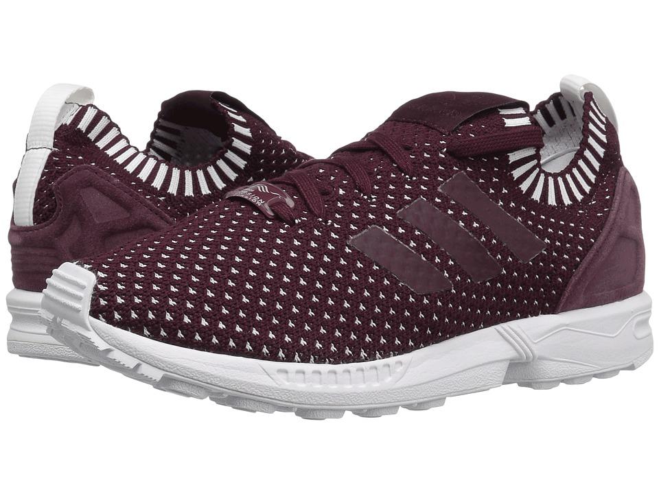 adidas Originals ZX Flux Primeknit (Maroon/Maroon/Footwear White) Women