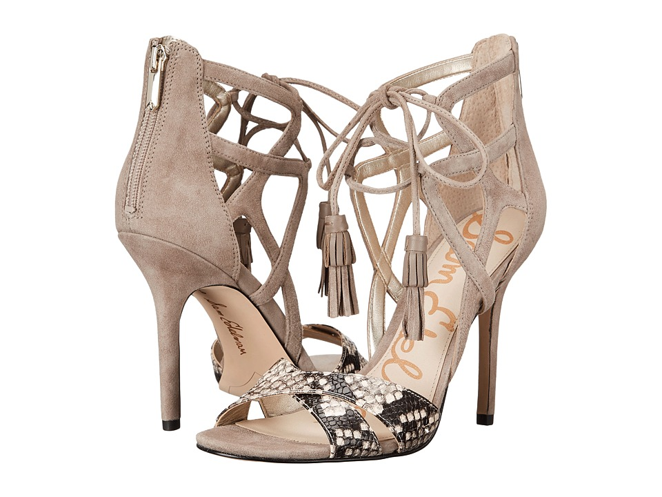 Sam Edelman - Aimes (Shiny Burma Python/Suede/Putty) High Heels