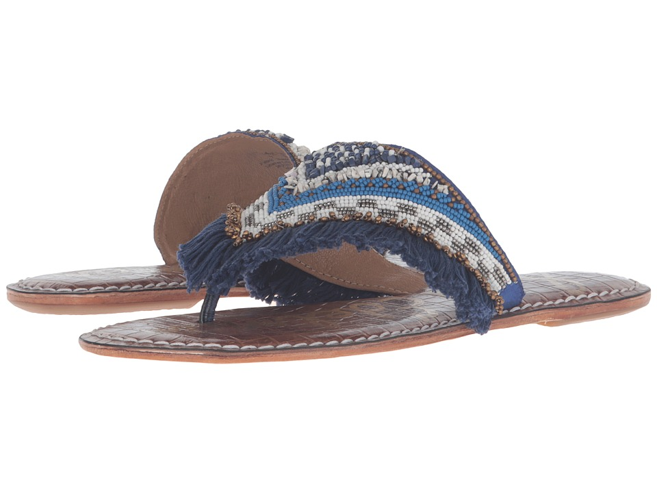 Sam Edelman - Kennedy (Bead/Fringe/Navy) Women's Sandals