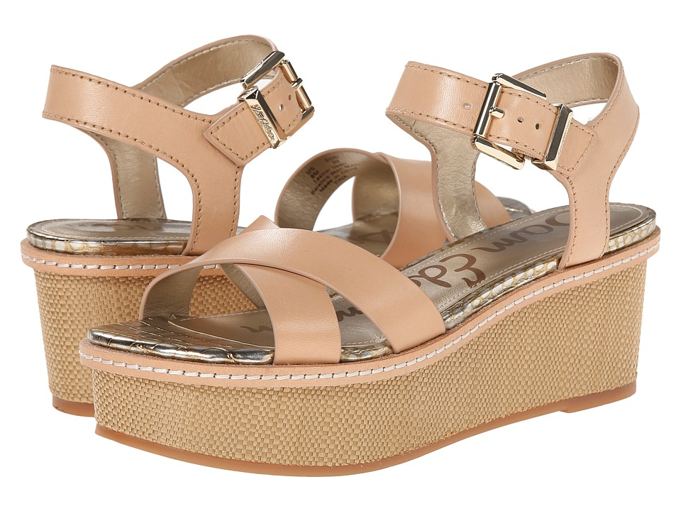 Sam Edelman - Tina (Naked Atanado Leather/Natural Naked) Women's Wedge Shoes