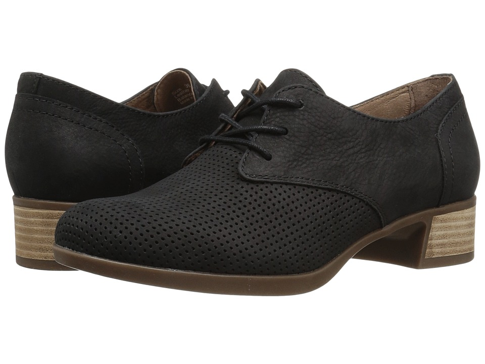 Dansko - Louise (Black Nubuck) Women's Lace up casual Shoes