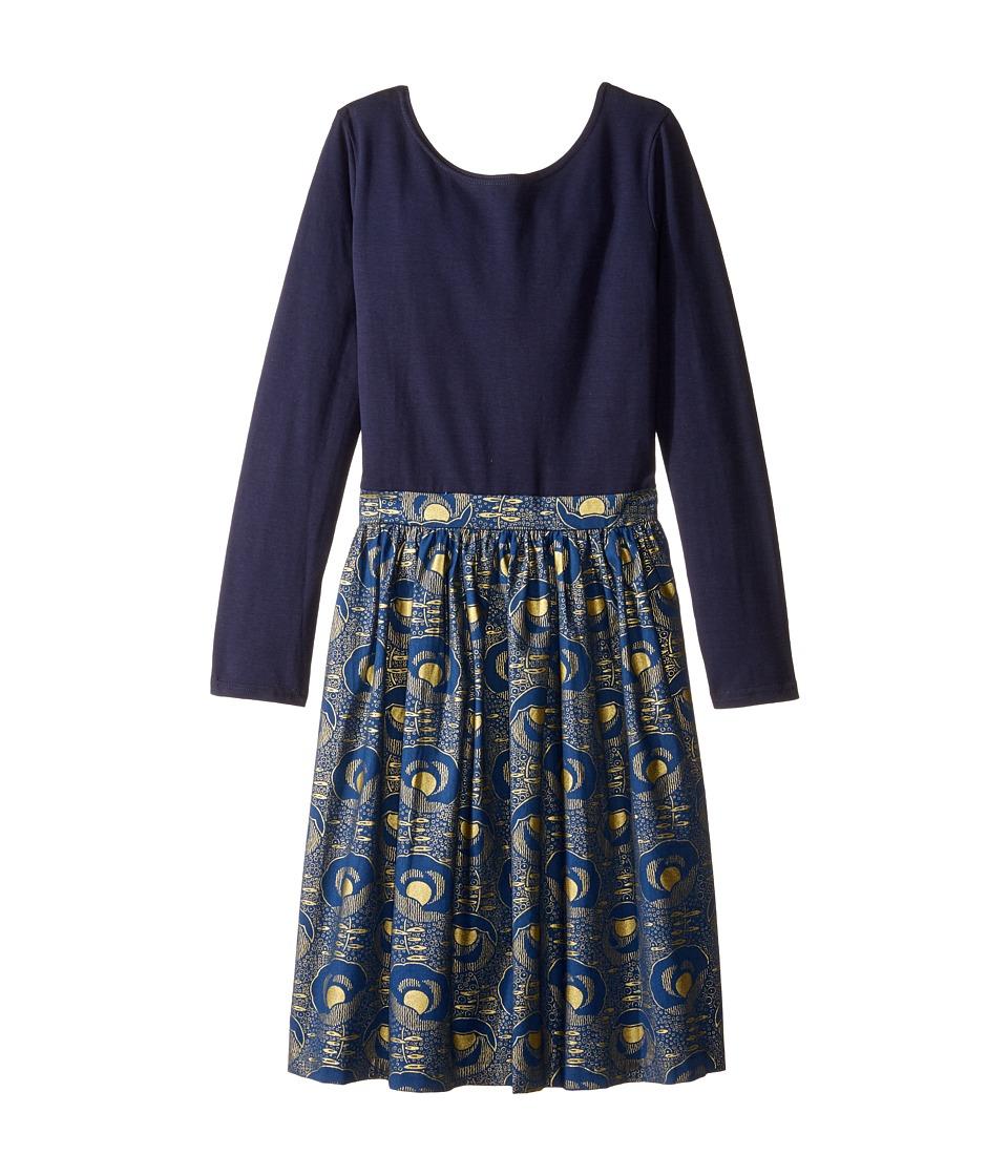 fiveloaves twofish - Indigo Gold Abbie Dress (Little Kids/Big Kids) (Navy) Girl's Dress