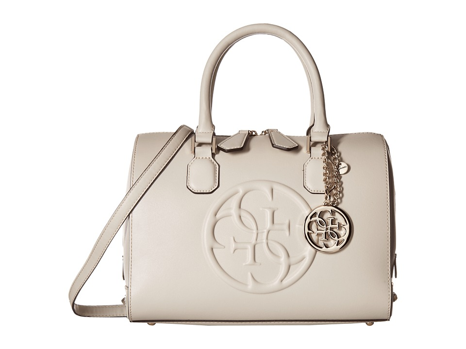 GUESS - Korry Box Satchel (Bone) Satchel Handbags