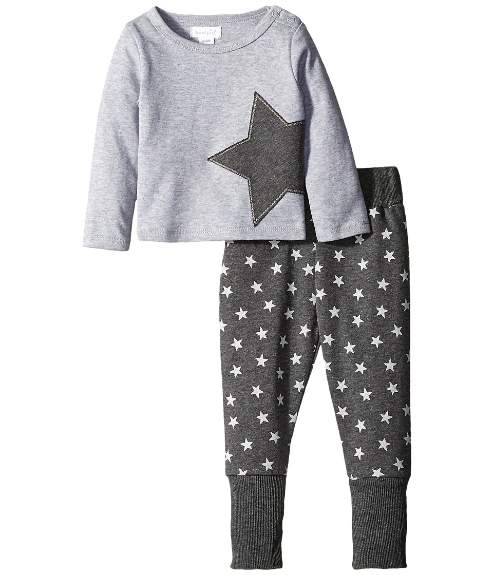 Mud Pie - Star Two-Piece Set (Infant) (Grey) Boy's Active Sets