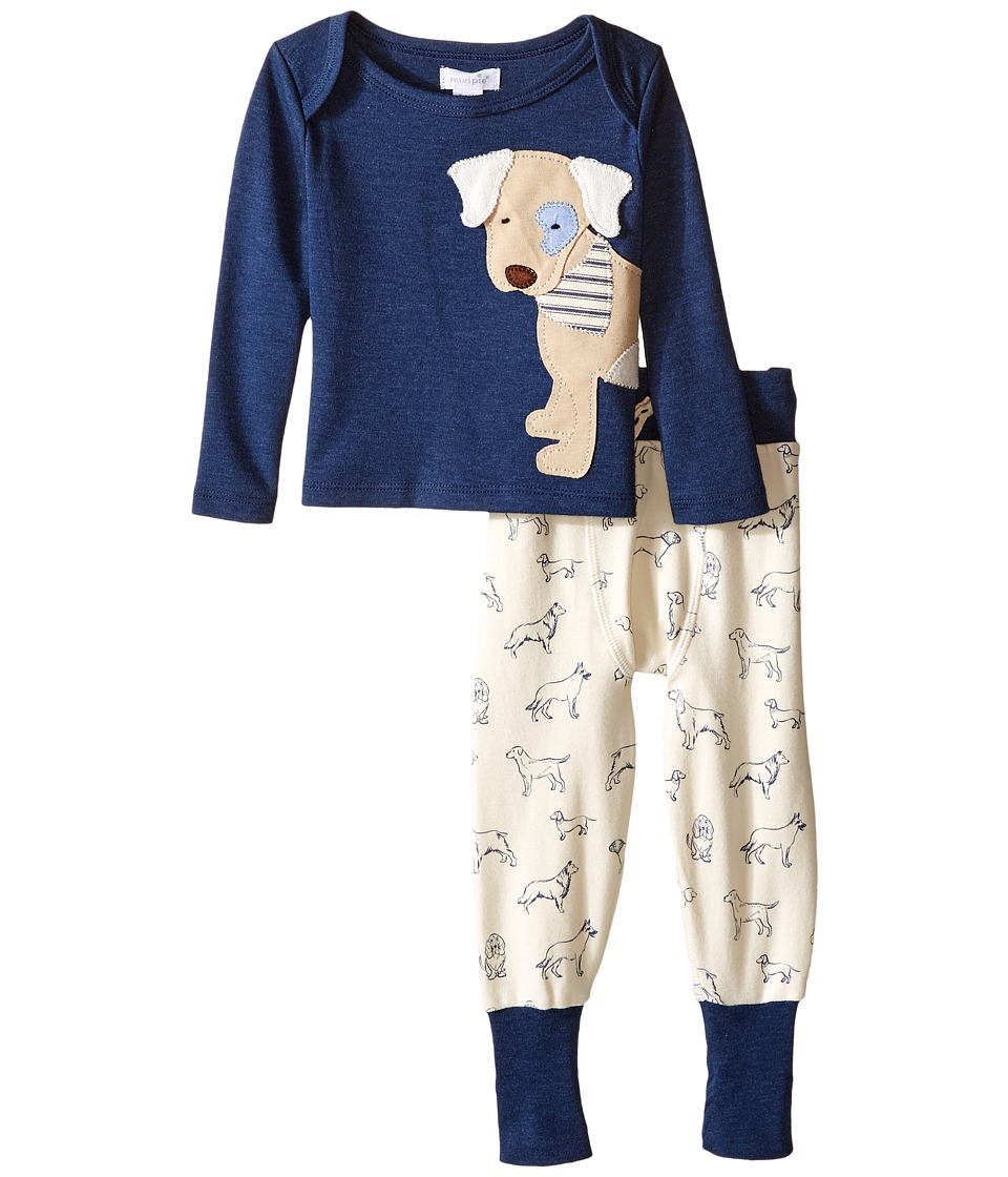 Mud Pie - Puppy Pants Set (Infant) (Navy) Boy's Active Sets