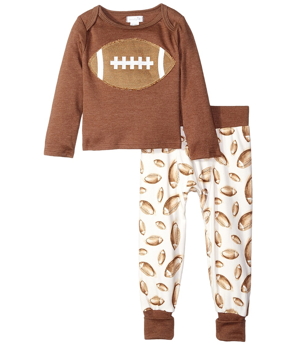 Mud Pie - Football Two-Piece Set (Infant) (Brown) Boy's Active Sets