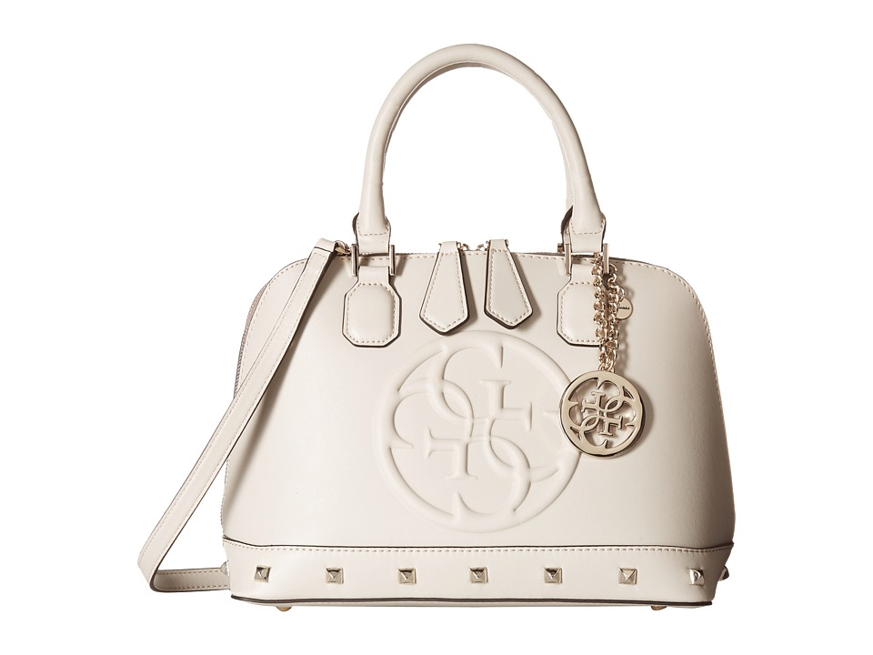GUESS - Korry Small Dome Satchel (Bone) Satchel Handbags