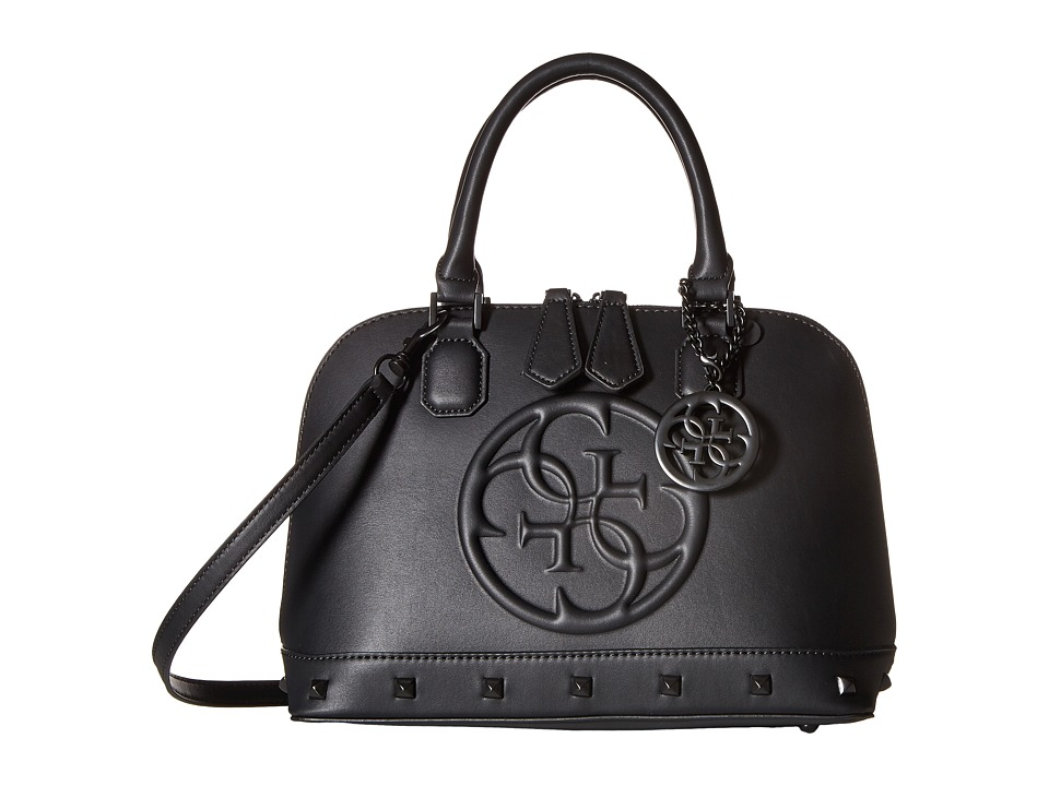 GUESS - Korry Small Dome Satchel (Black) Satchel Handbags