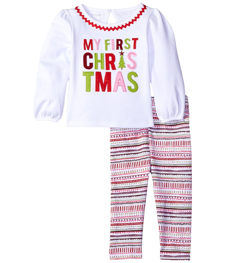 Mud Pie - My First Christmas Set (Infant) (Pink Multi) Girl's Active Sets