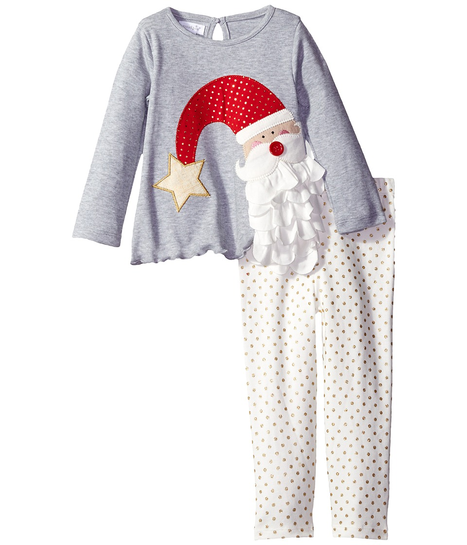 Mud Pie - Santa Tunic Leggings Set (Infant) (Grey) Girl's Active Sets