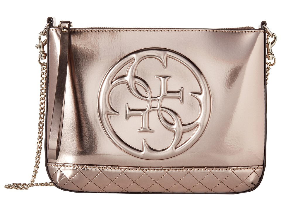 GUESS - Korry Crossbody Clutch (Champagne) Clutch Handbags