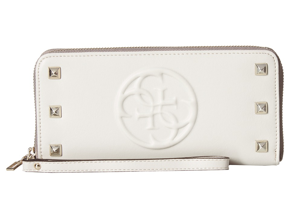 GUESS - Korry Large Zip (Bone) Wallet