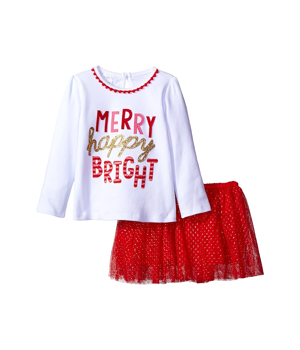 Mud Pie - Merry Skirt Set (Infant/Toddler) (White) Girl's Active Sets