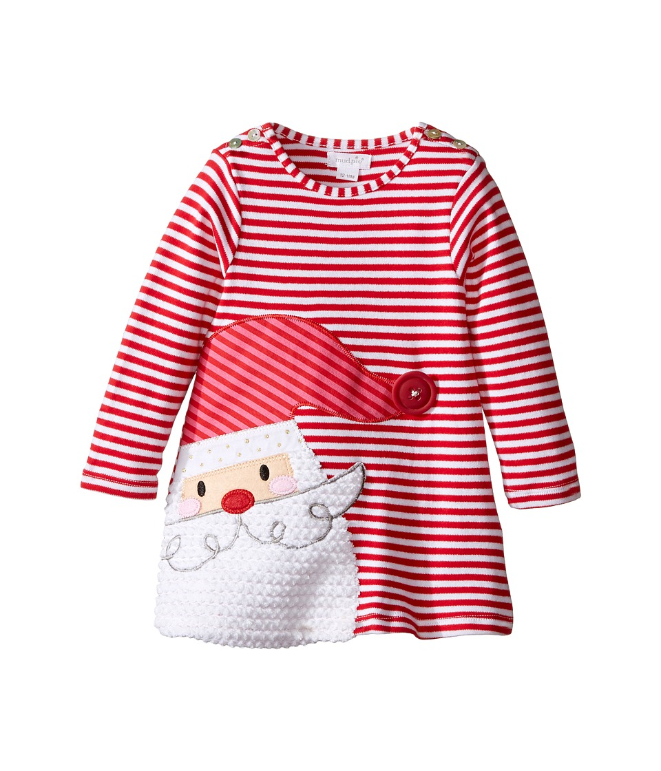 Mud Pie - Santa Stripe Dress (Infant) (Red) Girl's Dress