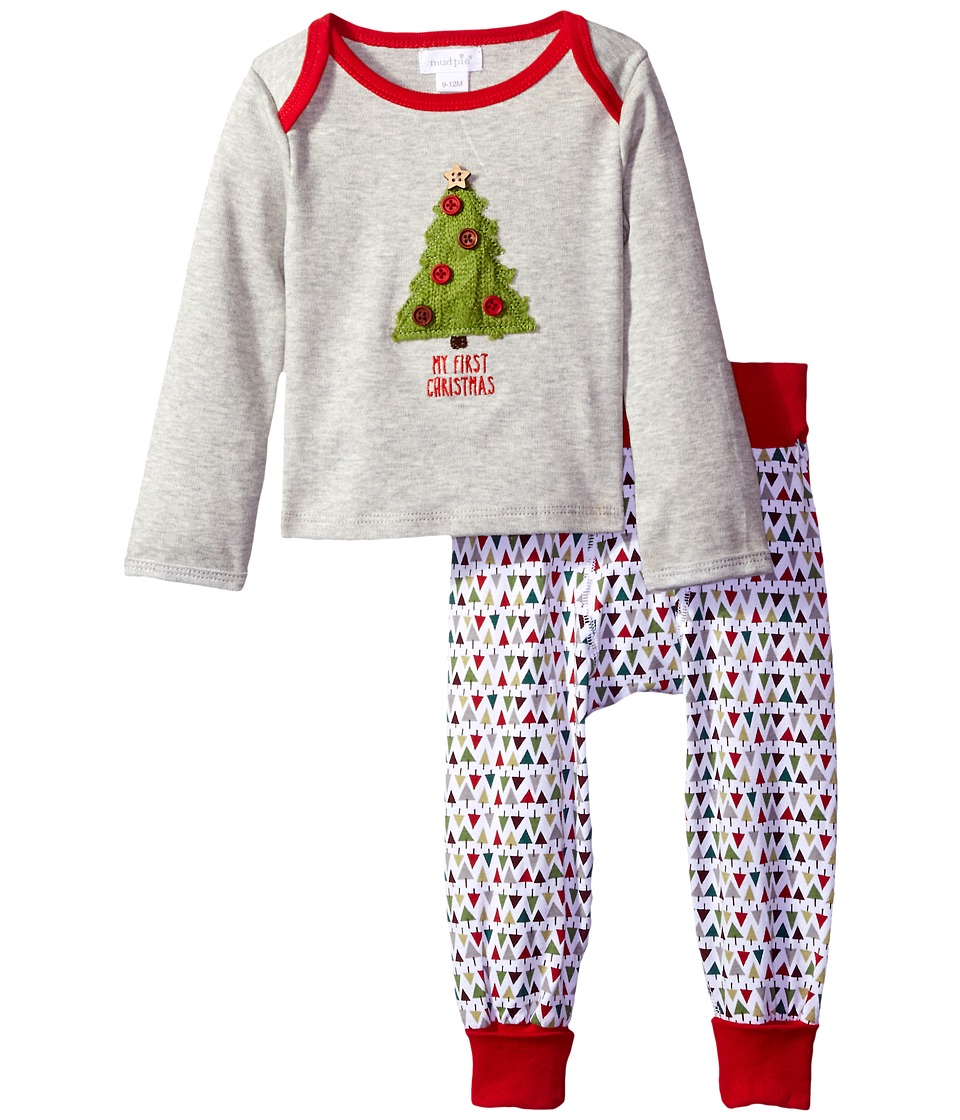 Mud Pie - My First Christmas Tree Set (Infant) (Grey) Kid's Active Sets