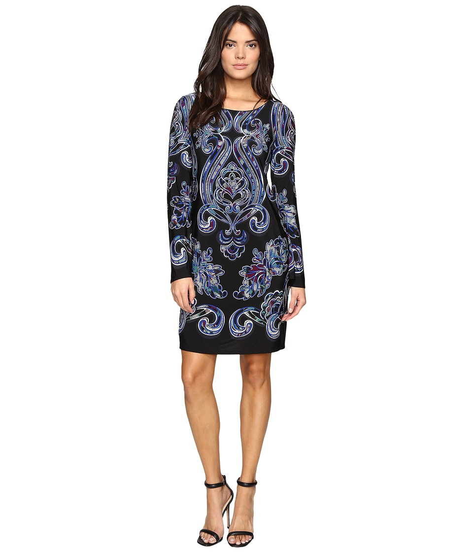 Laundry by Shelli Segal - Bell Sleeve Shift Dress (Black) Women's Dress