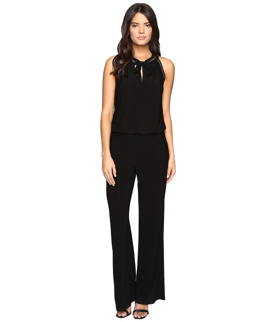 Laundry by Shelli Segal - Sleeveless Jumpsuit with Trim Details (Black) Women's Jumpsuit & Rompers One Piece