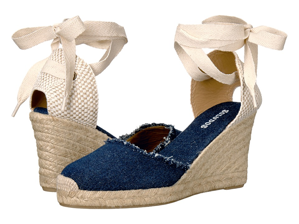 Soludos Tall Wedge (Dark Denim) Women