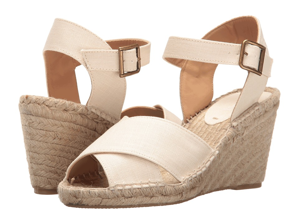 Soludos Crisscross Wedge Sandal (Blush Linen) Women