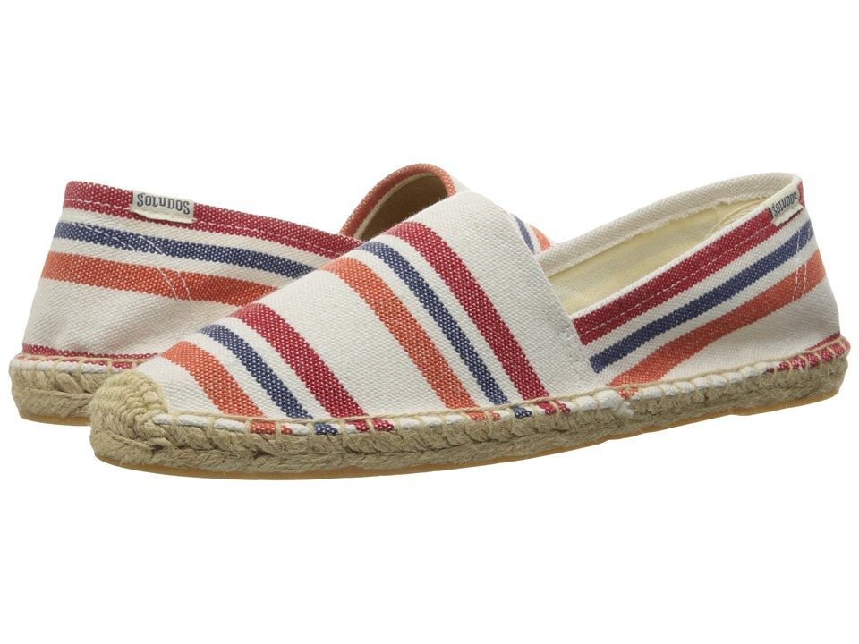 Soludos - Original Stripe (Red/Orange Multi Heavy Woven Canvas) Women's Slip on Shoes
