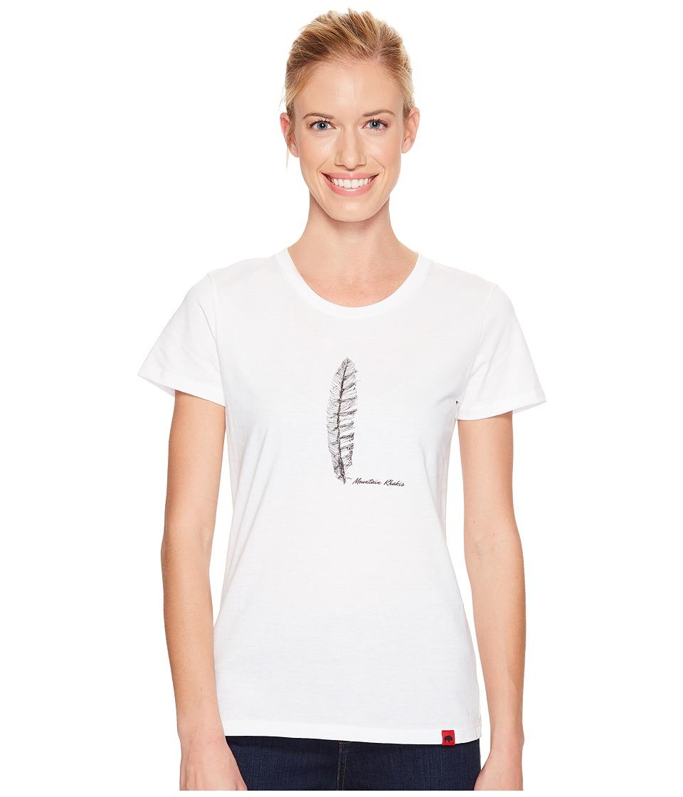 Mountain Khakis - Feather T-Shirt (White) Women's T Shirt