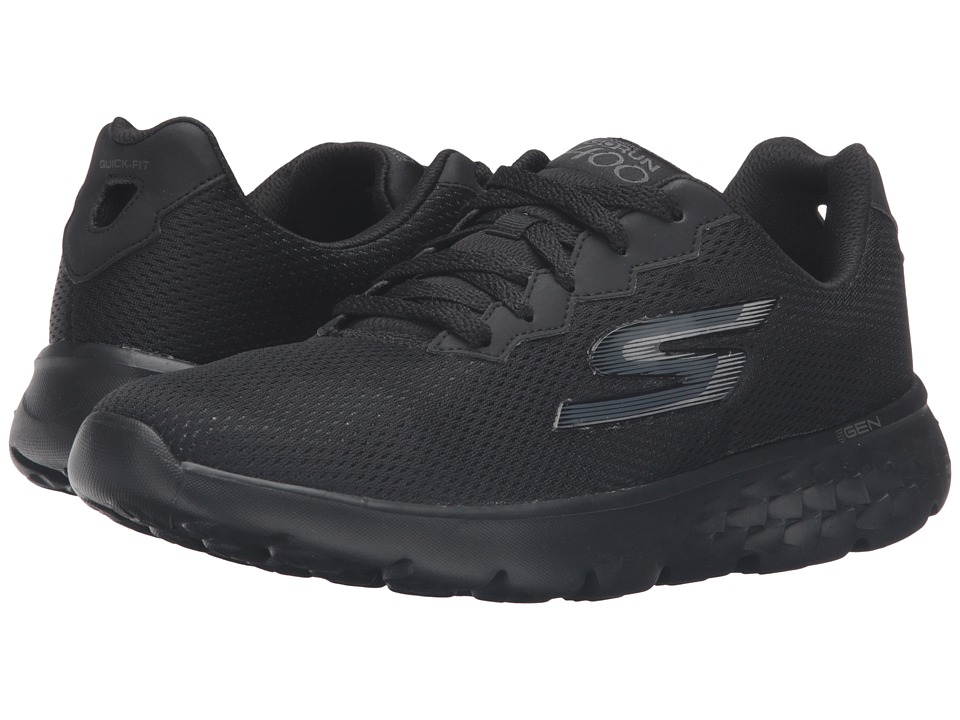 SKECHERS - Go Run 400 - Action (Black) Women's Running Shoes