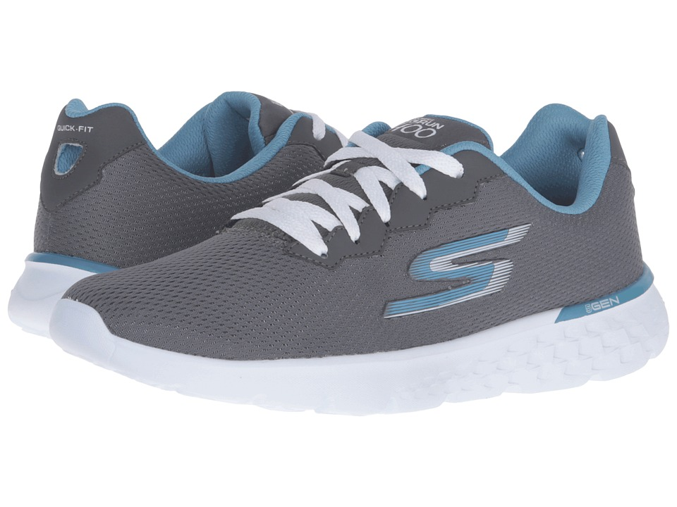 SKECHERS - Go Run 400 - Action (Charcoal/Blue) Women's Running Shoes