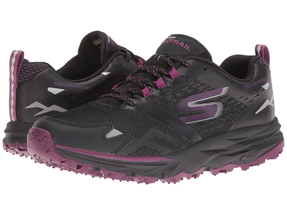 SKECHERS - GOTrail - Adventure (Black/Purple) Women's Running Shoes