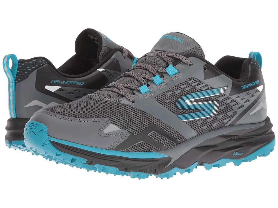 SKECHERS - GOTrail - Adventure (Charcoal/Blue) Women's Running Shoes