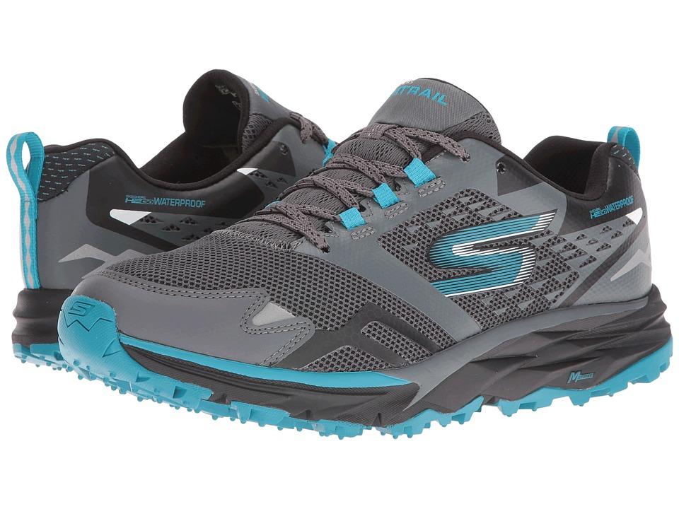 SKECHERS - GOTrail - Adventure (Charcoal/Blue) Women's Running Shoes