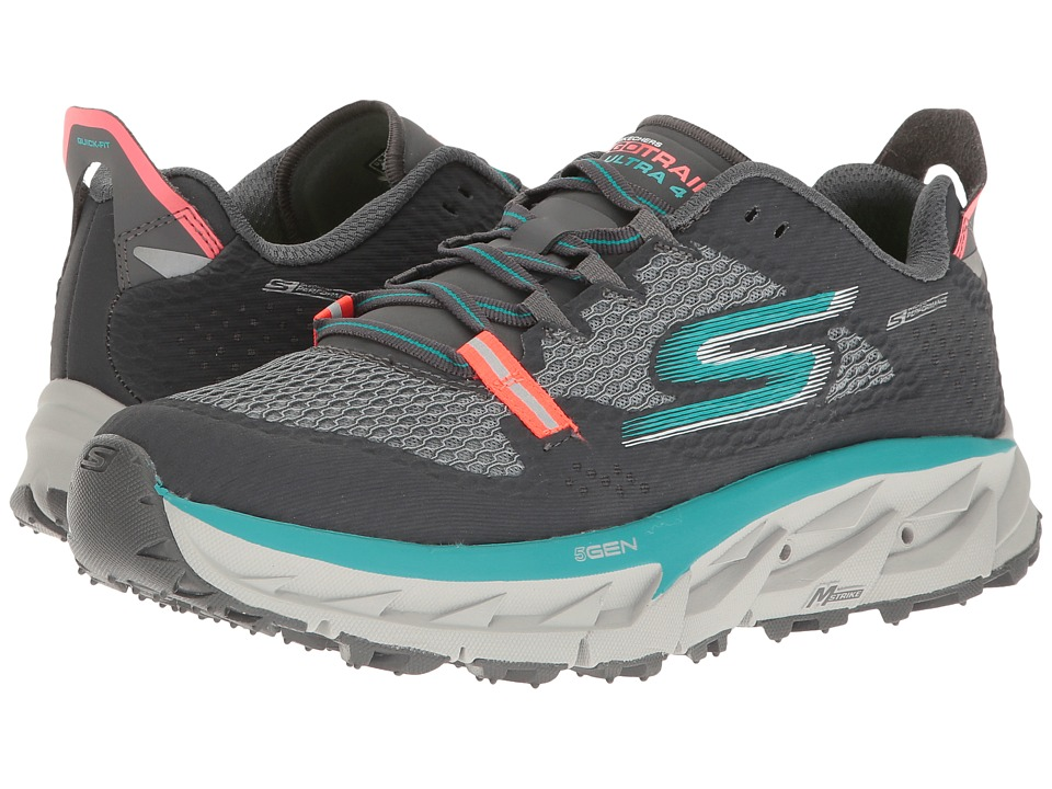 SKECHERS - Go Trail Ultra 4 (Charcoal/Teal) Women's Running Shoes