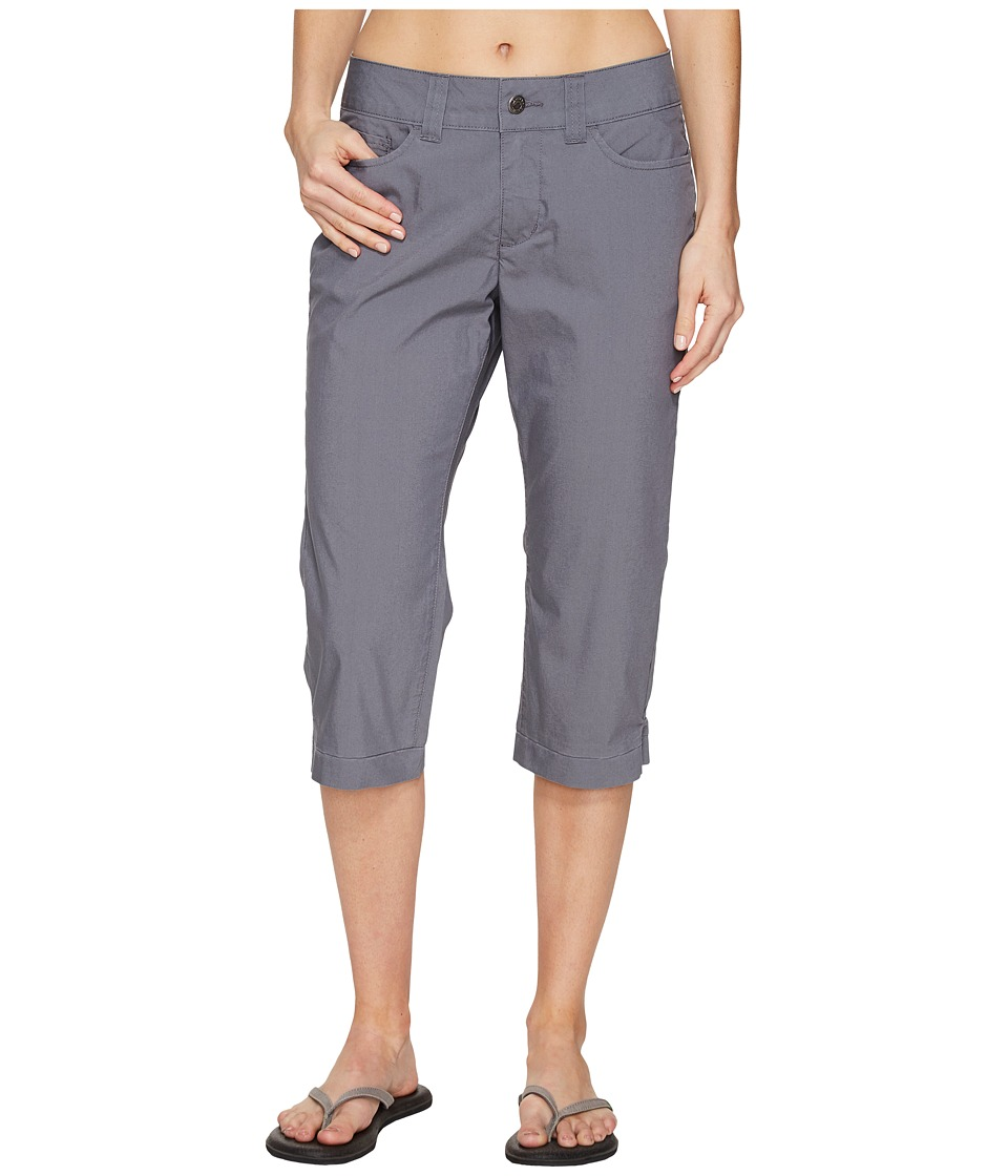Mountain Khakis Poplin Capris Slim Fit (Gunmetal) Women