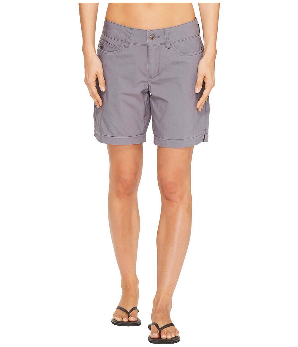 Mountain Khakis - Poplin Shorts Slim Fit - 7 (Gunmetal) Women's Shorts