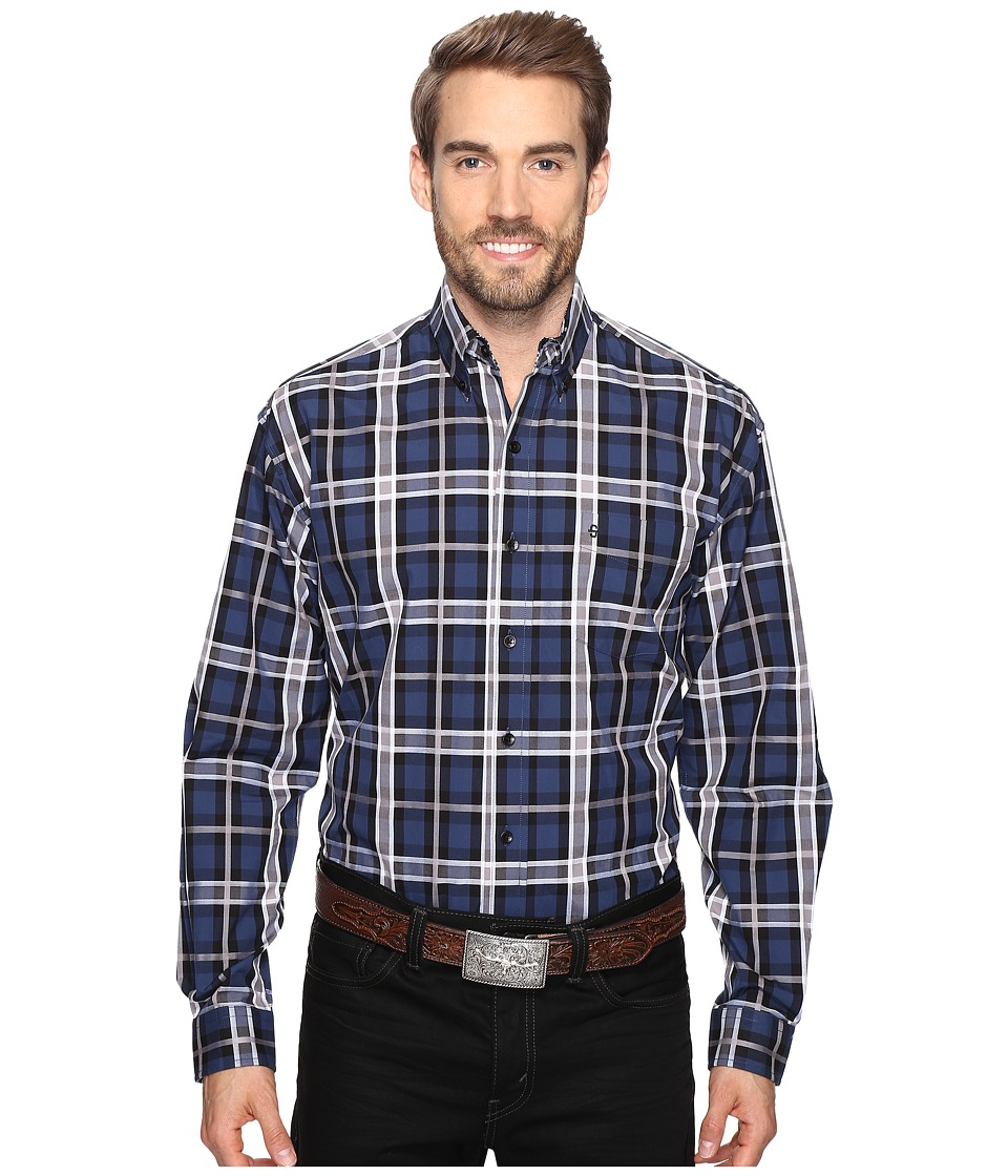 Stetson - Night Sky Plaid (Blue) Men's Clothing