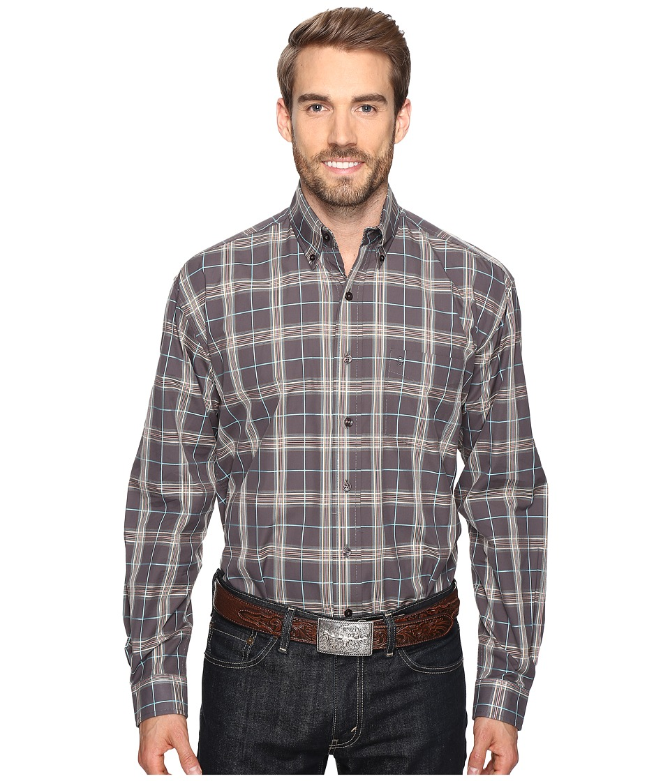 Stetson - Falcon Plaid (Grey) Men's Clothing
