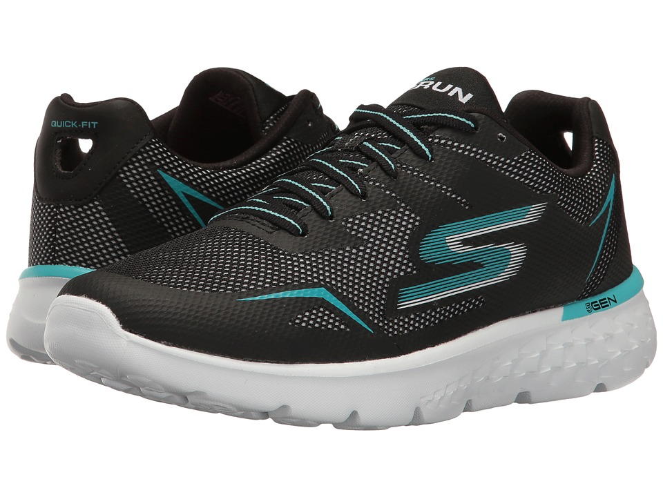 SKECHERS - Go Run 400 (Black/Aqua) Women's Running Shoes