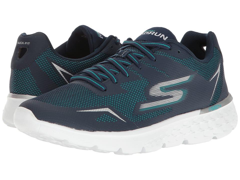 SKECHERS - Go Run 400 (Navy/Aqua) Women's Running Shoes