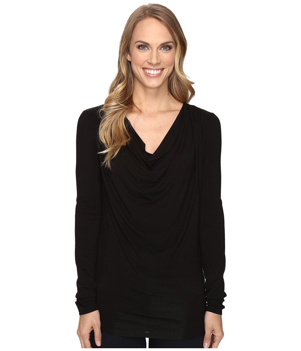 Stetson - Rayon Jersey Long Sleeve Blouse (Black) Women's Blouse