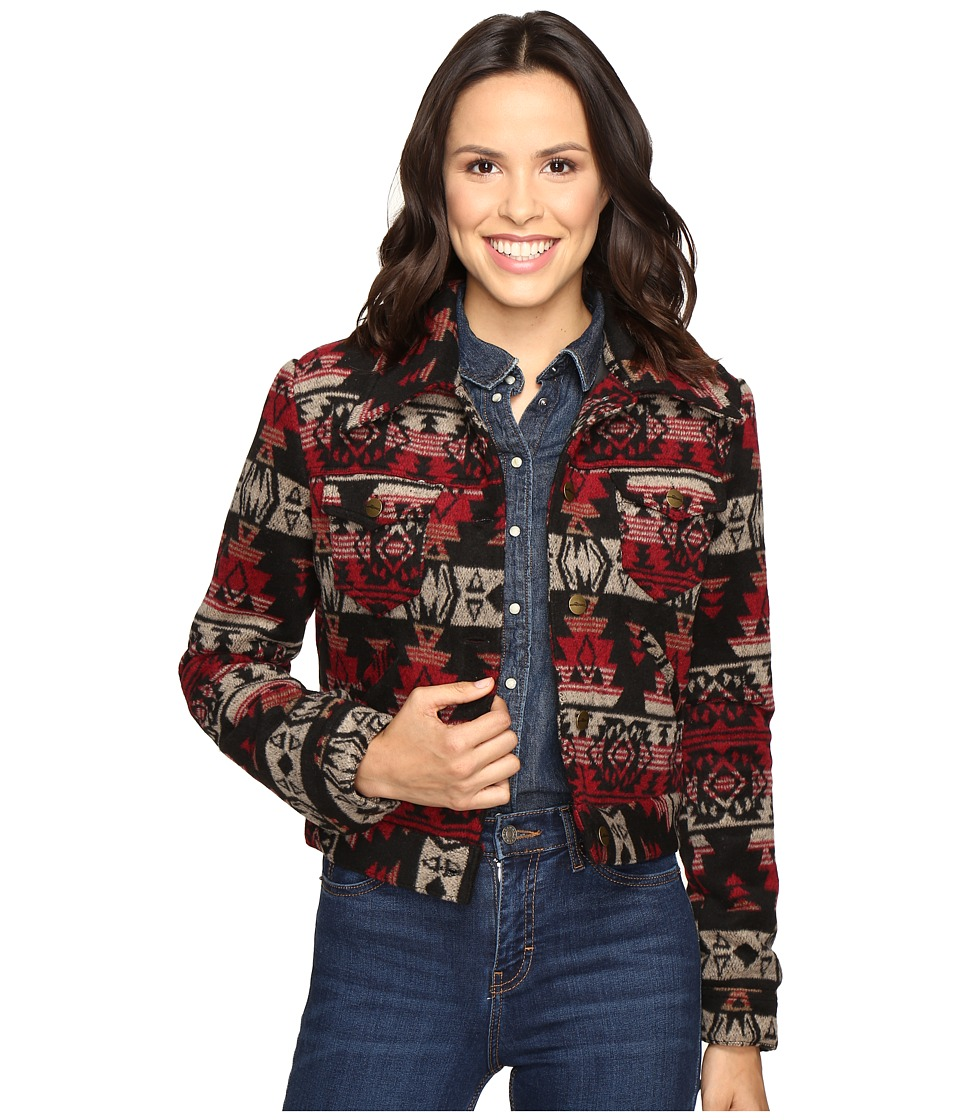 Stetson - Aztec Serape Wool Blend (Red) Women's Coat