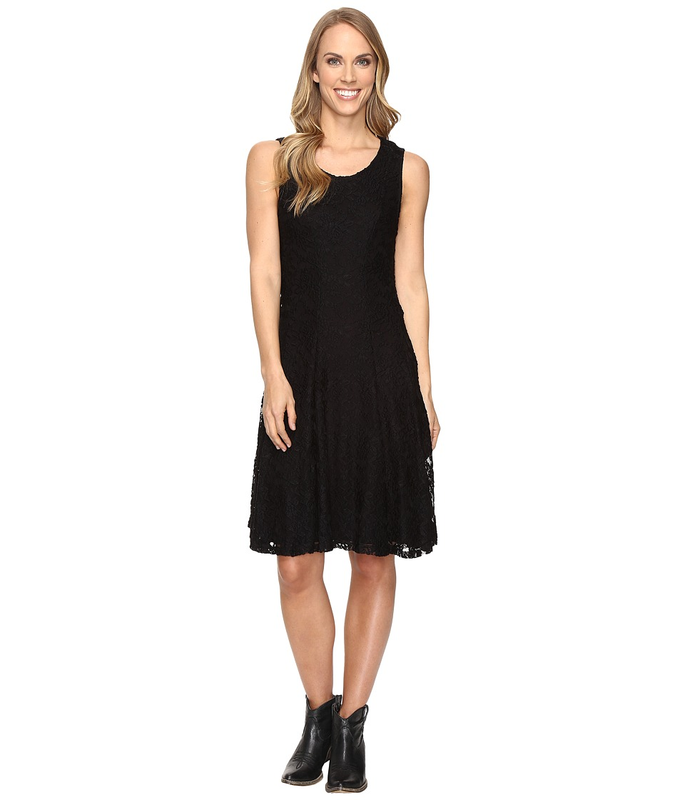 Stetson - Lace Fit and Flare Dress (Black) Women's Dress