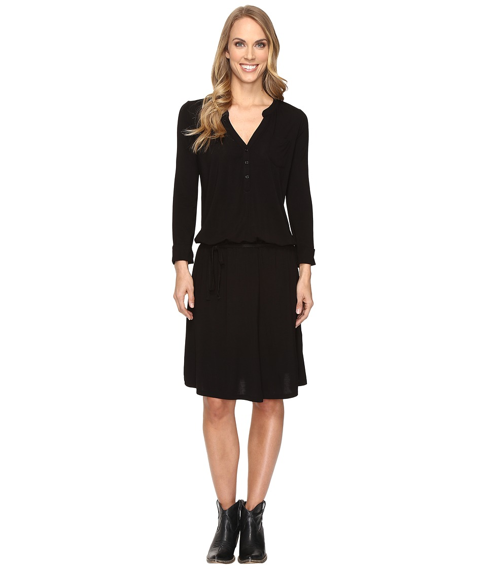 Stetson - Jet Black Rayon Jersey Dress (Black) Women's Dress