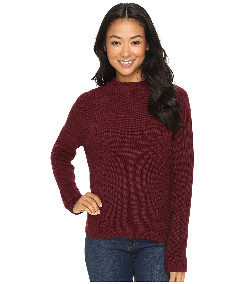 Pendleton - Petite Rachel Pullover (Tawny Port Heather) Women's Long Sleeve Pullover