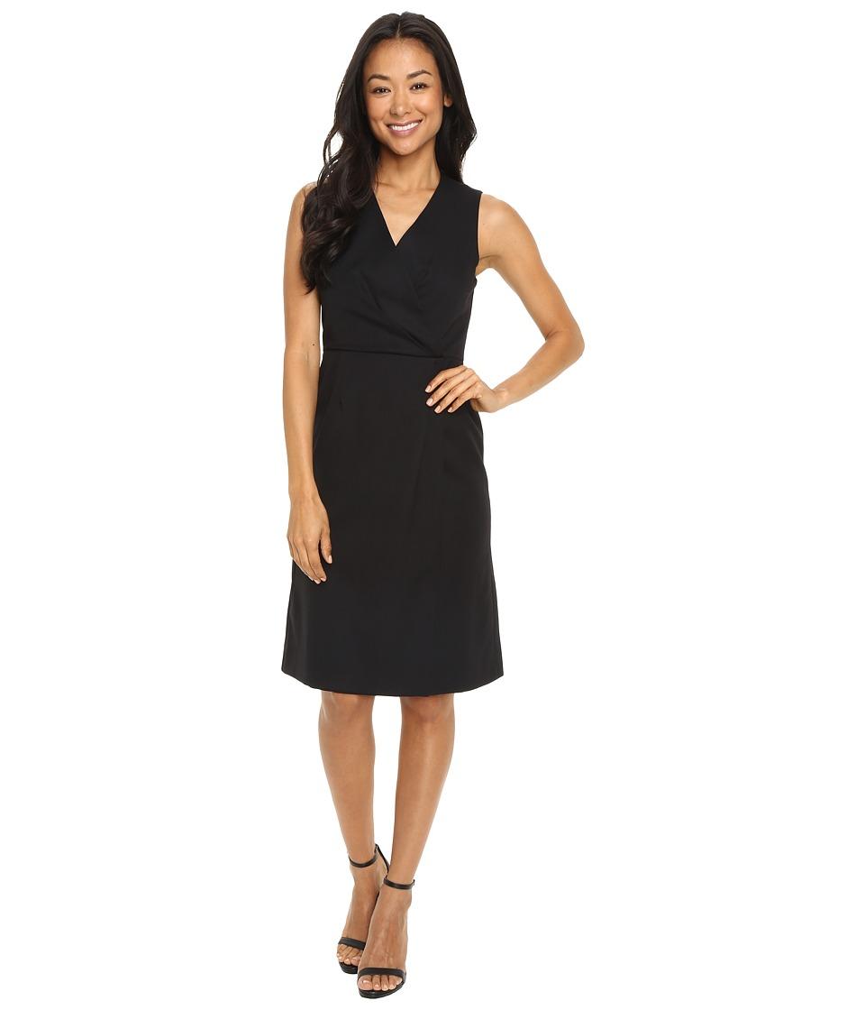 Pendleton Petite Layla Dress (Black Gabardine) Women