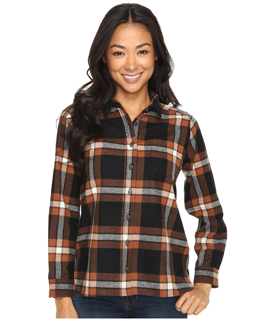 Pendleton - Petite Meredith Shirt (Black/Brown Plaid) Women's Long Sleeve Button Up