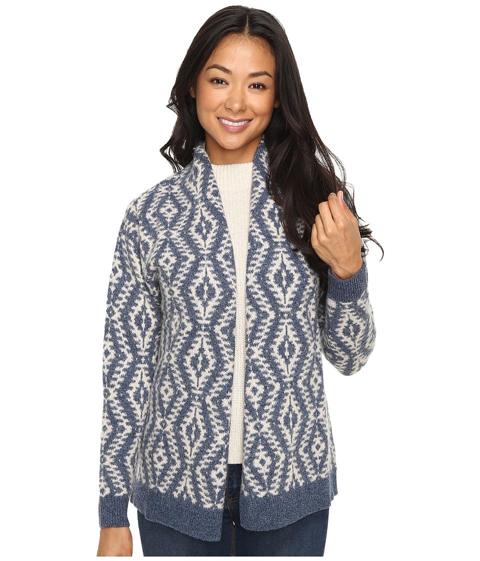 Pendleton - Petite Carlton Cardigan (Denim/Natural) Women's Sweater