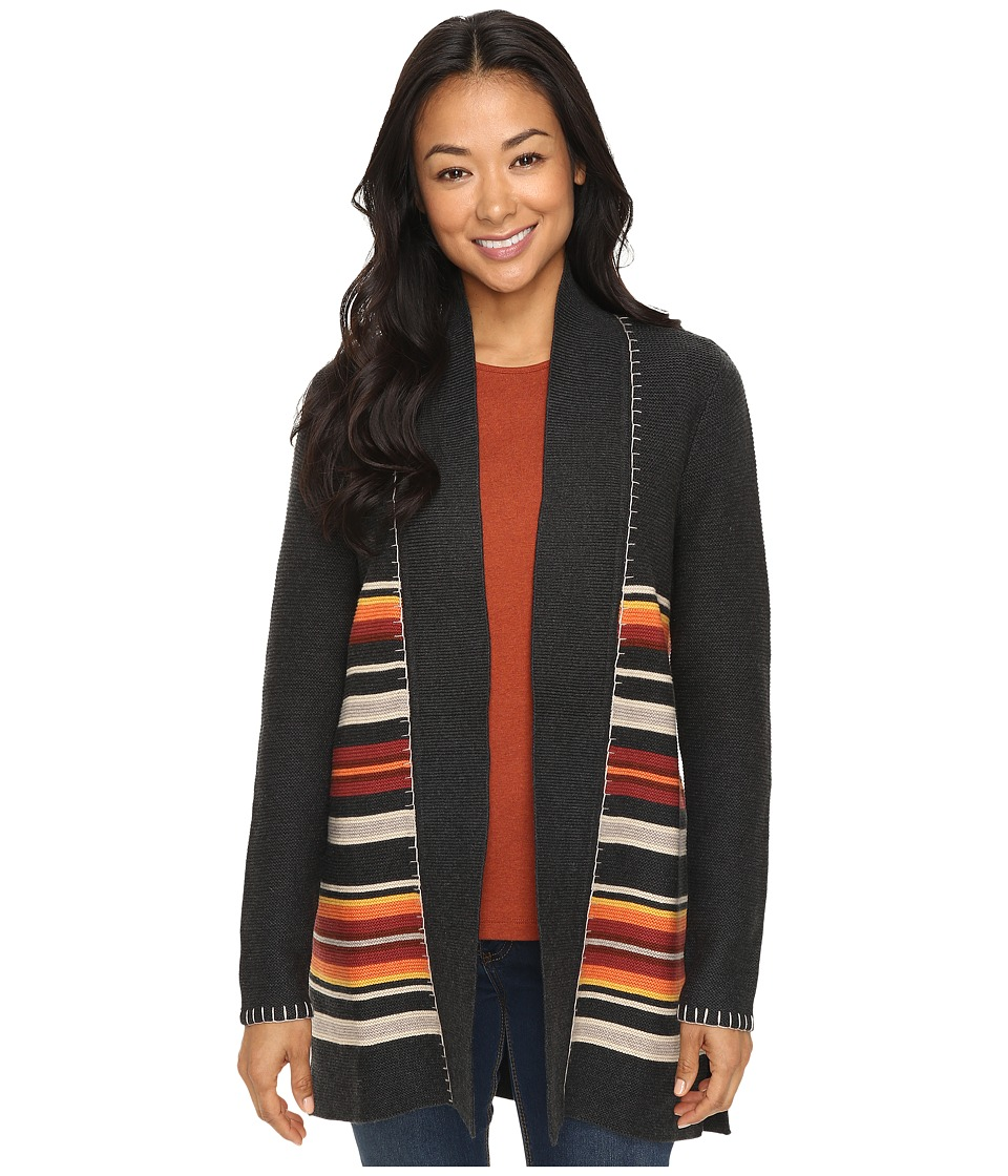 Pendleton - Petite Park Stripe Cardigan (Charcoal Heather Multi) Women's Sweater