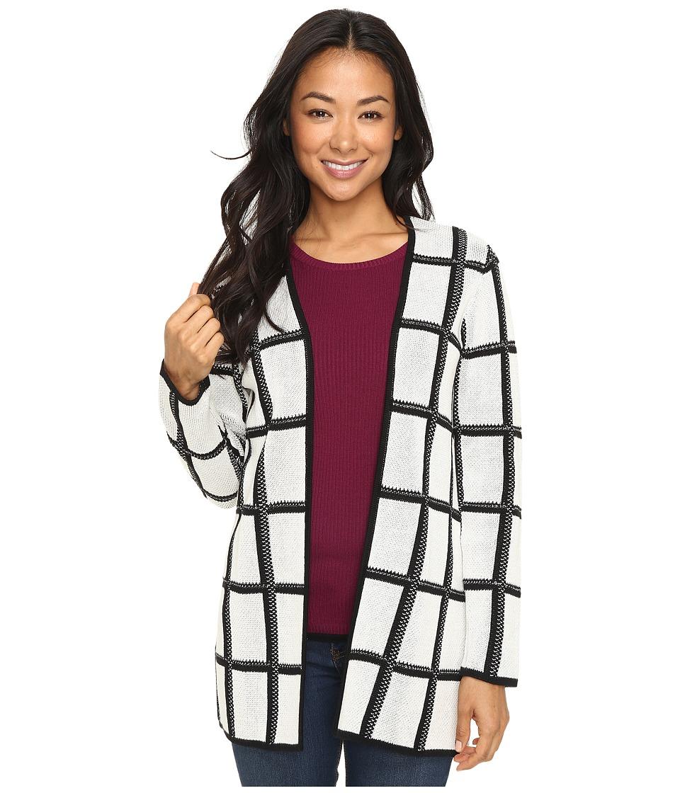 Pendleton - Petite Marketa Cardigan (Ivory/Black) Women's Sweater