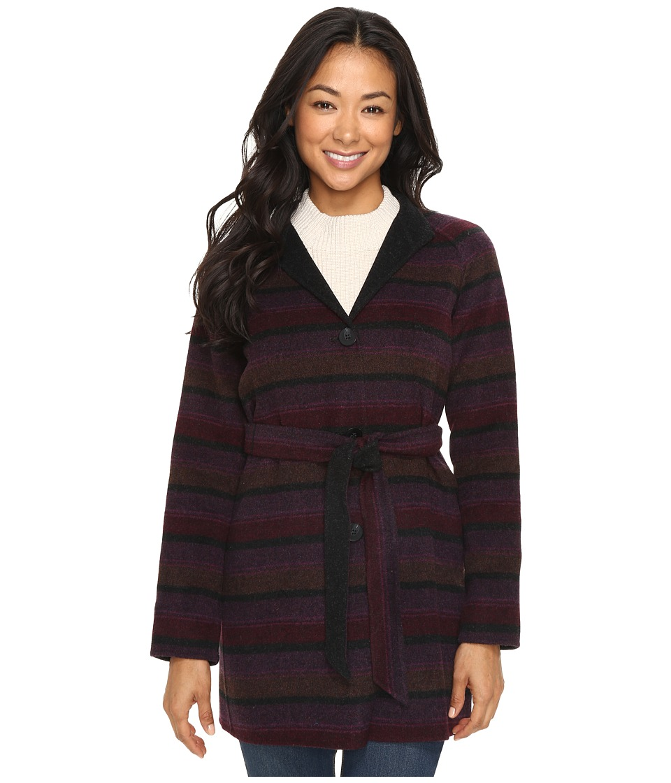 Pendleton - Petite Portfolio Jacket (Plum Multi Stripe Double Face) Women's Coat