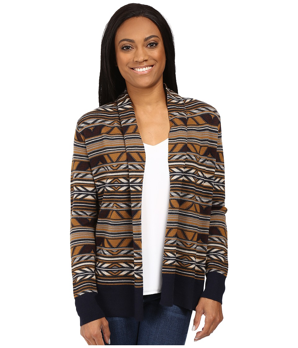 Pendleton - Petite McKenzie Cardigan (Navy Multi) Women's Sweater